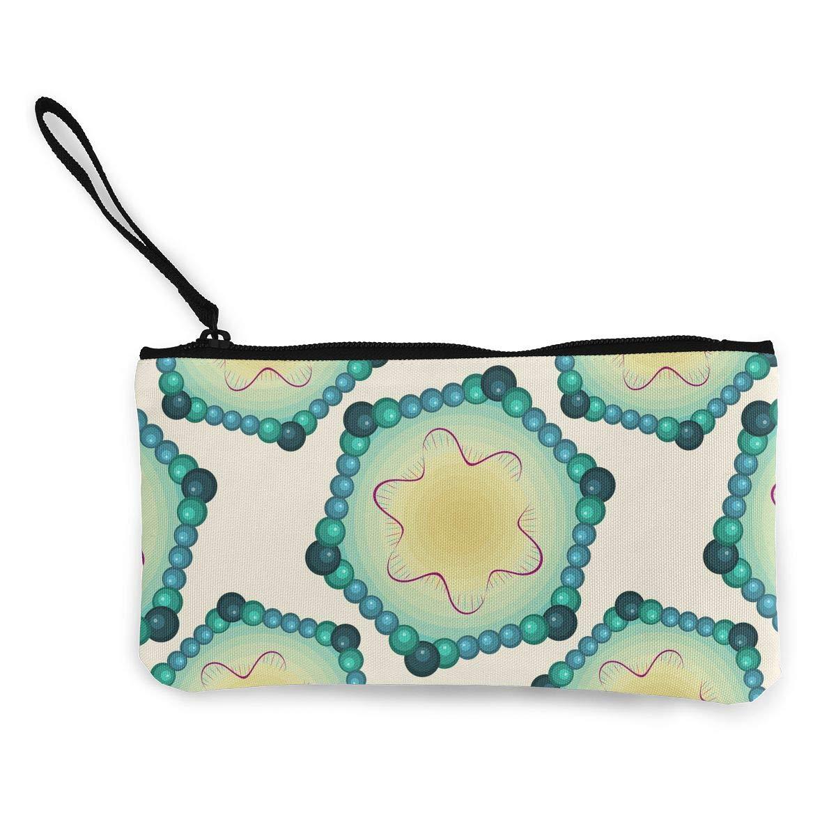 Parvovirus Pattern Canvas Coin Purse Assorted Change Cash Bag with Zip