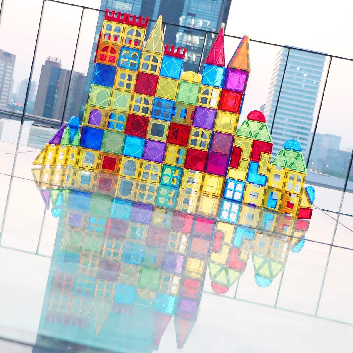 Magblock 115 PCS Magnetic Blocks, Magnetic Tiles Building Blocks for Kids Toy,Magnet Toys Set 3D Building Blocks for Toddler Boys and Girls by Magblock (Image #3)