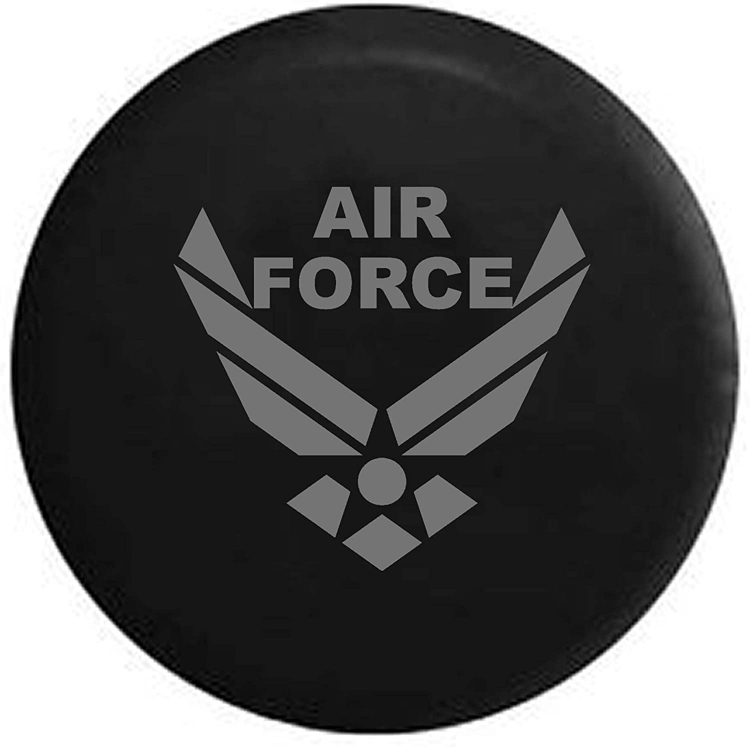 Pike Camo USAF Air Force Military Trailer RV Spare Tire Cover OEM Vinyl Black 27.5 in