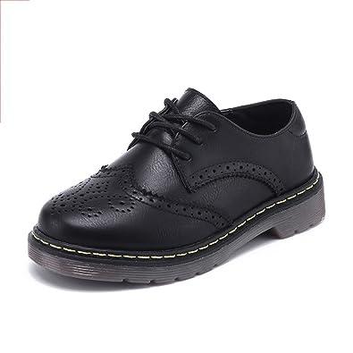 Tufanyu Jungen-Schule Beschuht Die Loafer-Leder-Schuhe der Kinder Hart, Zurück Tragend zur Schule-Touch-Befestigung Schwarze Formale Schuhe (Color : Gray, Size : 26)