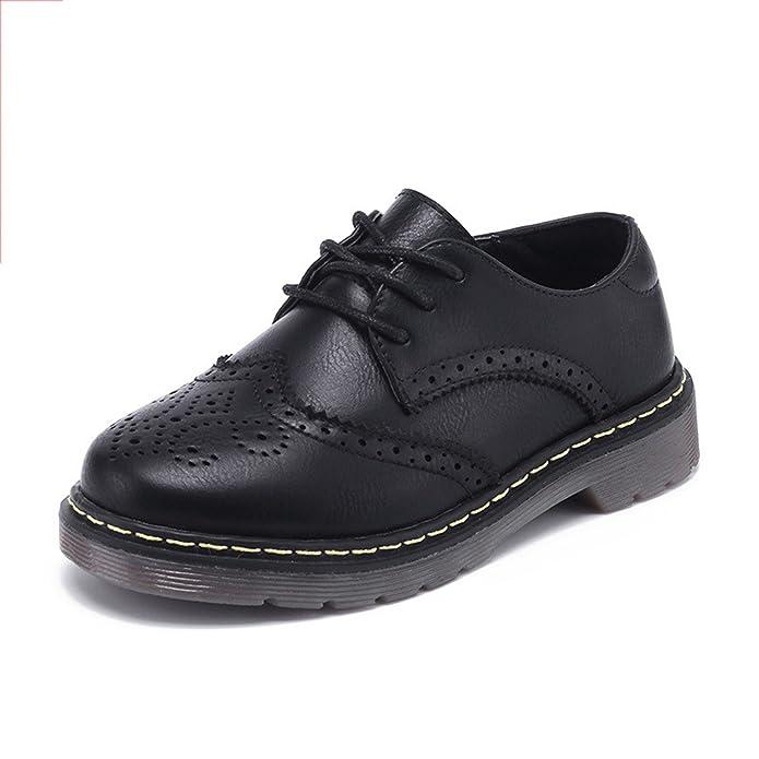 Girl's Fashion Lackleder Slip On Frühling Oxfords Schuhe Süße Nette Bow Loafers School Schuhe (Color : Pink, Size : 32)