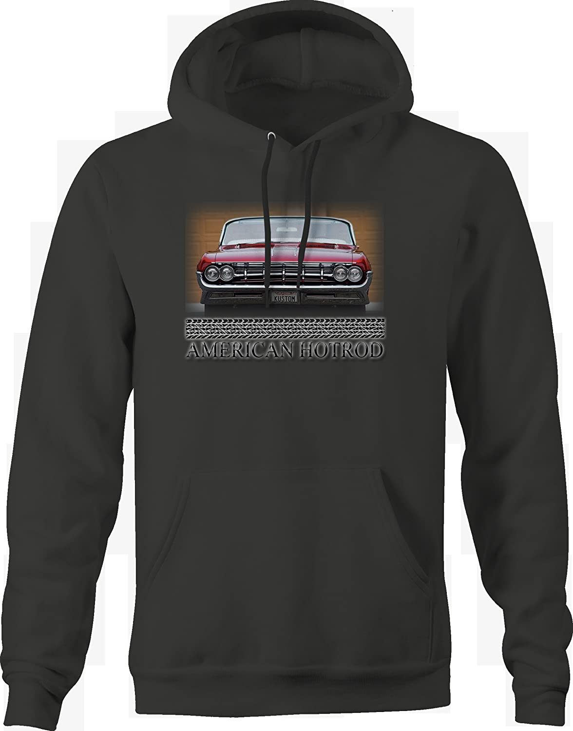 American Hotrod Classic Custom Convertible Headlights Grill Hoodie for Men