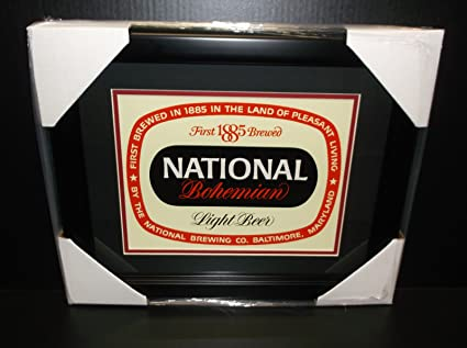 9562264ff Image Unavailable. Image not available for. Color: NATIONAL BOHEMIAN NATTY  BOH FRAMED 8X10 CARDBOARD DISPLAY VINTAGE ORIGINAL SIGN