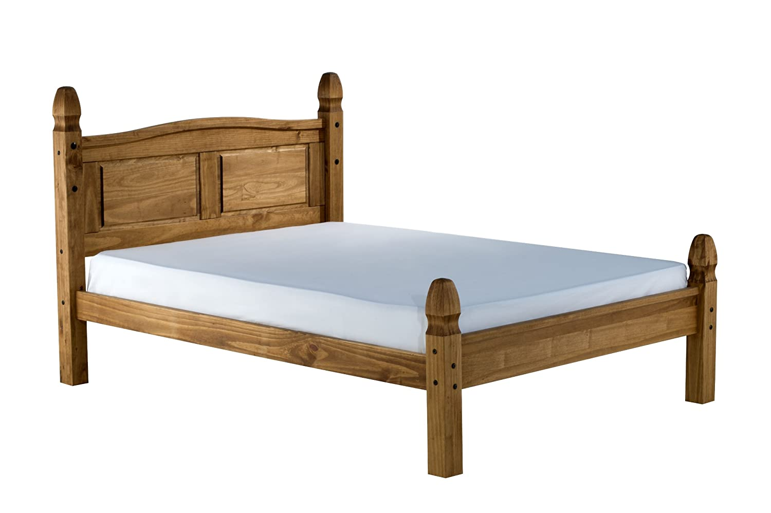 Mexican Pine Bedroom Furniture Birlea Corona Low End Bed Waxed Pine Small Double Amazoncouk
