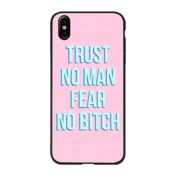 Amazoncom Tpurubber Black Case Trust No Man Fear No Bitch