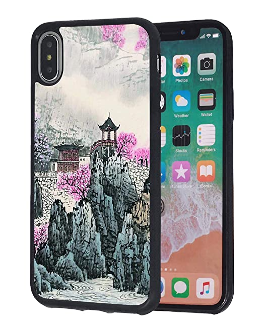 Amazon com: iPhone Xs Max Case,Chinese Style Watercolor