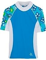 Tuga Girls Short Sleeve Rash Guard 1-14 Years, UPF 50+ Sun Protection Swim Shirt