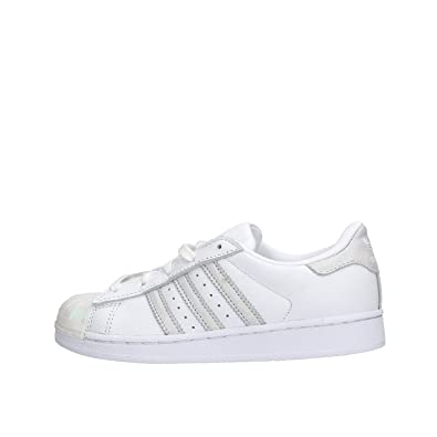 Adidas originals superstar scarpe moda sneakers pelle bianco
