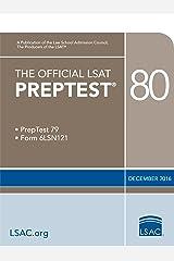 The Official LSAT PrepTest 80 (Official LSAT PrepTests) Kindle Edition