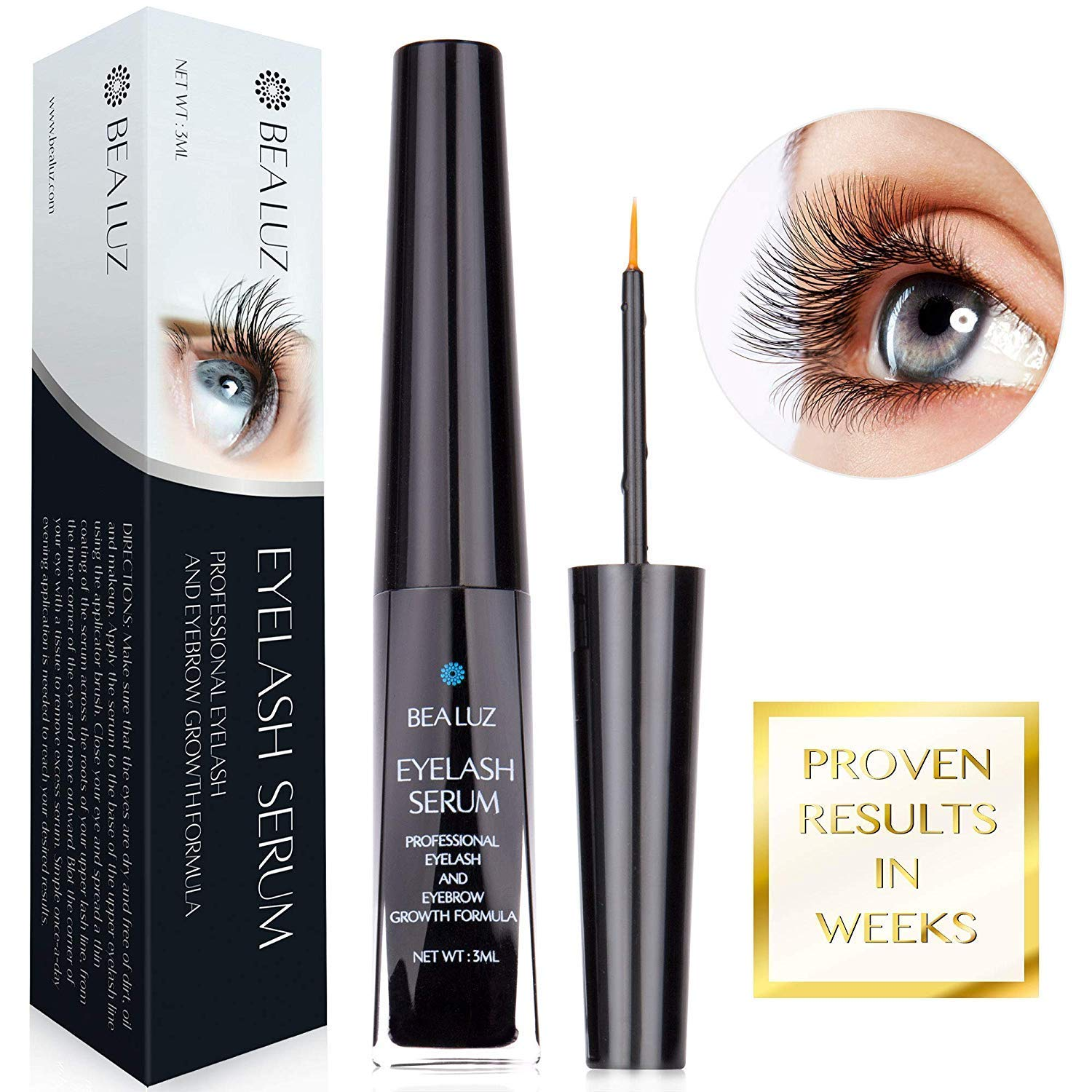2a2b31e9899 Amazon.com: Eyelash Growth Enhancer & Brow Serum for Long, Luscious Lashes  Enhancer Primer for Longer Thicker Healthier Lash & Brow: Beauty