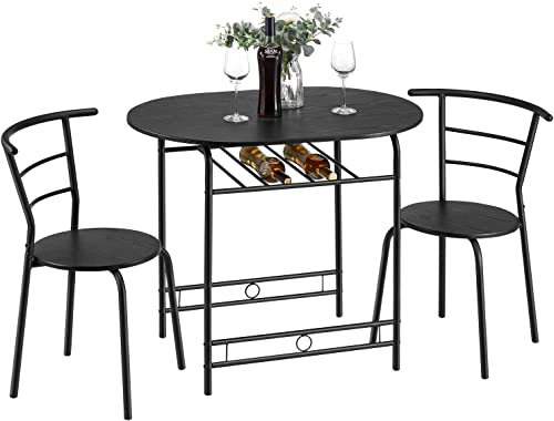Reviewed: kealive 3 Piece Kitchen Table Set Small Space Saving Dining Room Table Set