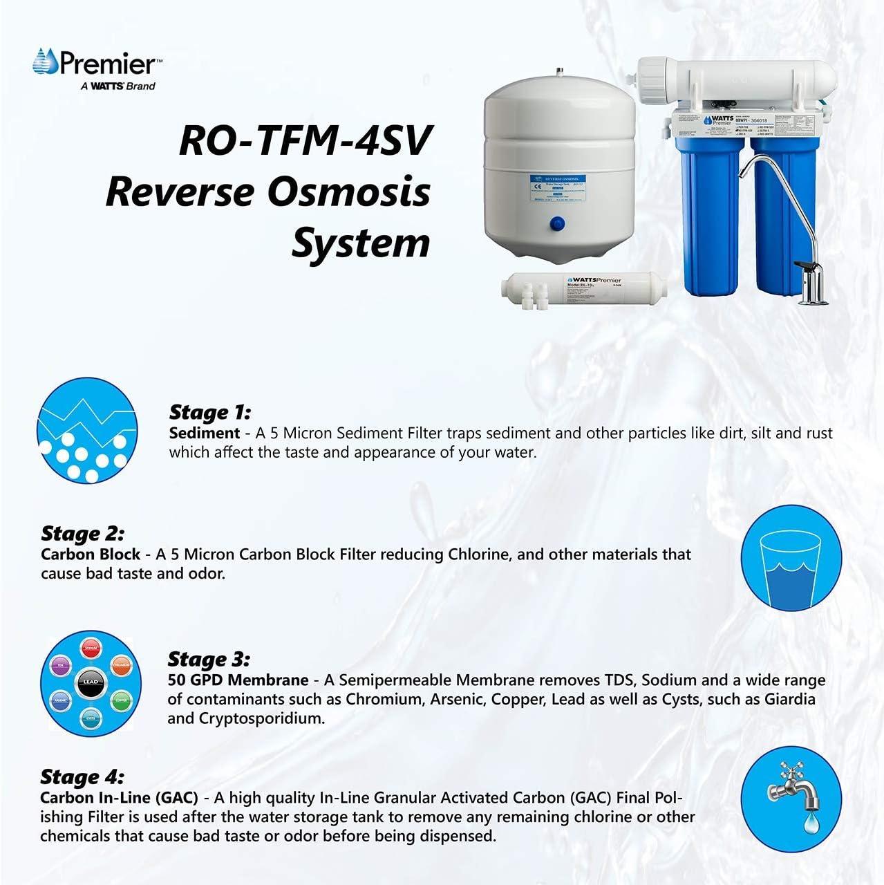 Watts Premier 4SV 500025 Reverse Osmosis System