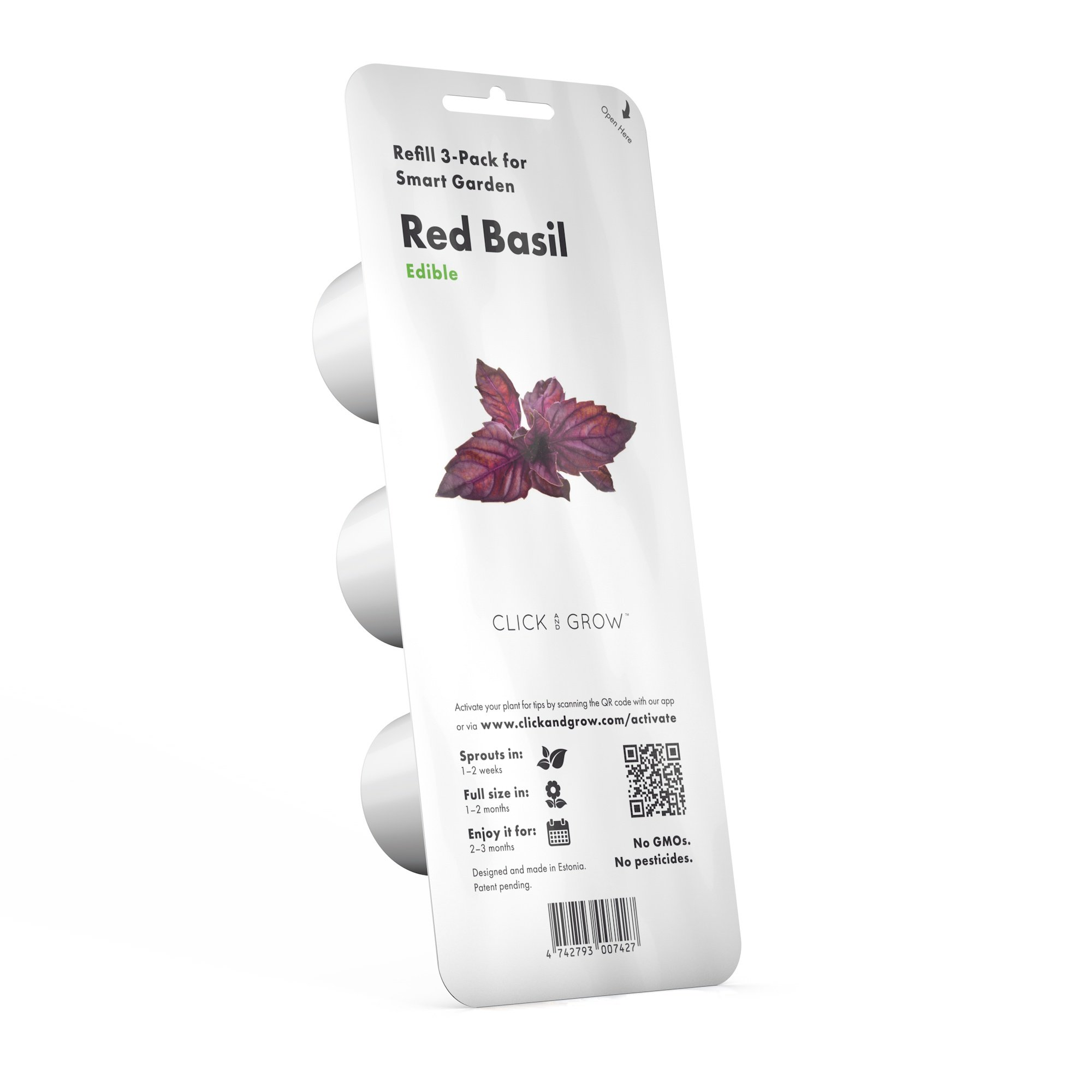 Click and Grow Smart Garden Red Basil Plant Pods, 3-Pack