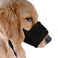ubest Hund Maulkorb mit Klettverschluss, Gepolstert und Einstellbar Nylon, für meistens Hunde, Größe S bis XXL, 4 Farben