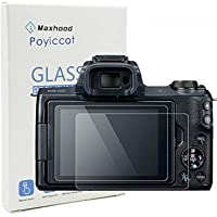 Poyiccot(2-Pack) for Canon EOS M50 Tempered Glass Screen Protector, Optical 9H Hardness 0.3mm Ultra-Thin DSLR Camera Glass Canon EOS M50