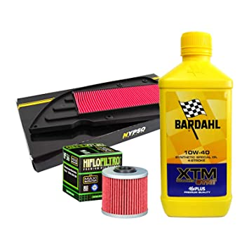 Kit Tagliando Bardahl XTM Scooter 10 W40 Filtro Aceite Aire Kymco K-XCT 125/300 ie: Amazon.es: Coche y moto
