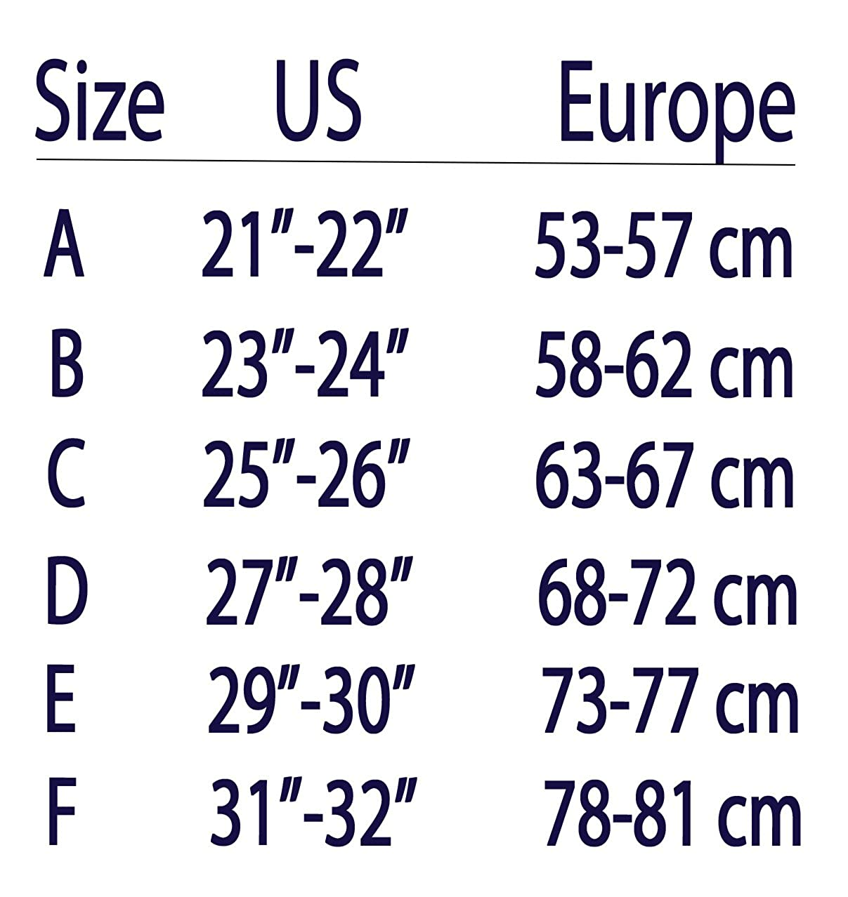 Just My Size Pantyhose Size Chart