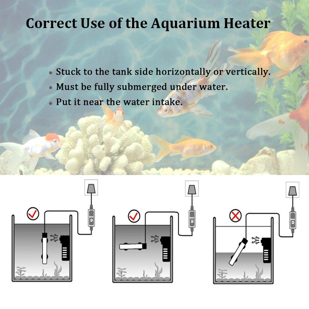 Amazon.com: Submersible Aquarium Heater Fish Tank Thermostat with ...