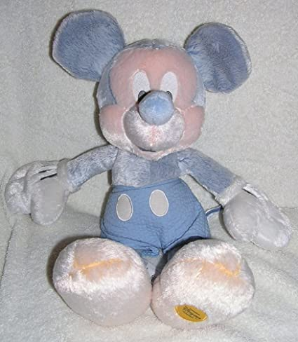 Amazon Com Disney 16 Plush Blue Iced Mickey Mouse Doll Toys Games