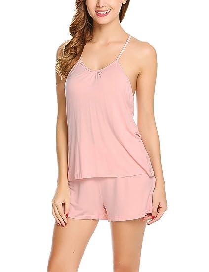 9b05adf250c Avidlove Women Modal Camisole Short Sets Pajamas Set Shorts(Pink