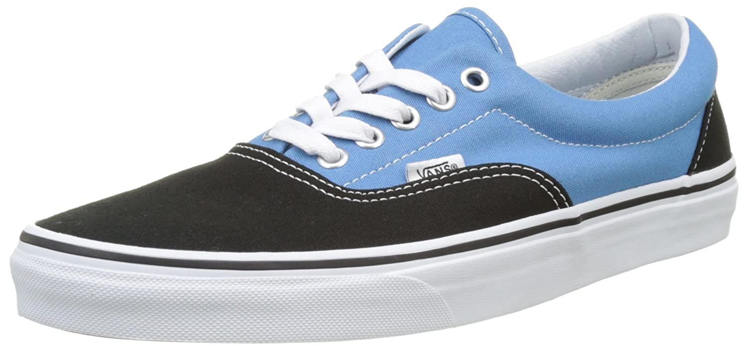 Vans Unisex Era Skate Shoes, Classic Low-Top Lace-up Style in Durable Double-Stitched Canvas and Original Waffle Outsole B01I24P89I 7.5 B(M) US Women / 6 D(M) US Men Black/Cendre Blu