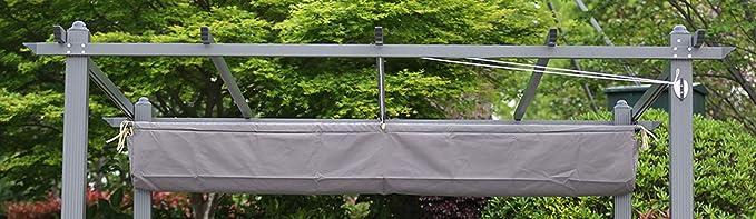 Angel Living - Funda de Protectora para la Lona del Techo de 3x3 m Pérgola para Jardín o Patio, Color Gris: Amazon.es: Jardín