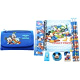 Disney Mickey Minnie Mouse Wallet with Stationary Set Gift for Kids Party favors