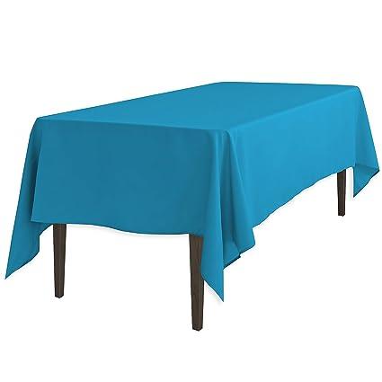 Merveilleux Amazon.com: LinenTablecloth 60 X 102 Inch Rectangular Polyester Tablecloth  Turquoise: Home U0026 Kitchen