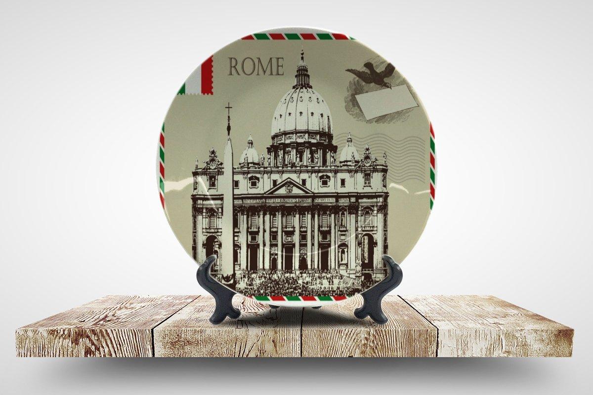 LEotiE SINCE 2004 Teller Stadt Rom Italien Keramik Bedruckt
