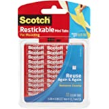 Scotch Restickable Tabs, 0.5 Inch squares, 72 Tabs, 6-PACK