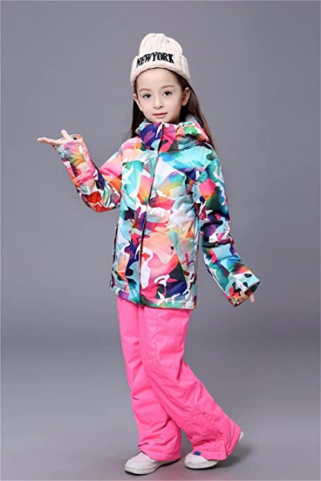 obtoms Gsou Snow Ski Jacket Kids Winter Snow Coats Girls Super Warm  Camouflage Jackets Children -30 Degree Sports Snowboard Ski Clothes   Amazon.ca  Clothing ... ae05fa95b