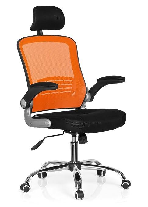 Hjh Office 719610 Bürostuhl Drehstuhl Vendo Net Netzstoff Schwarz Orange Bürodrehstuhl Ergonomischsehr Gute Polsterung Armlehne Abklappbar