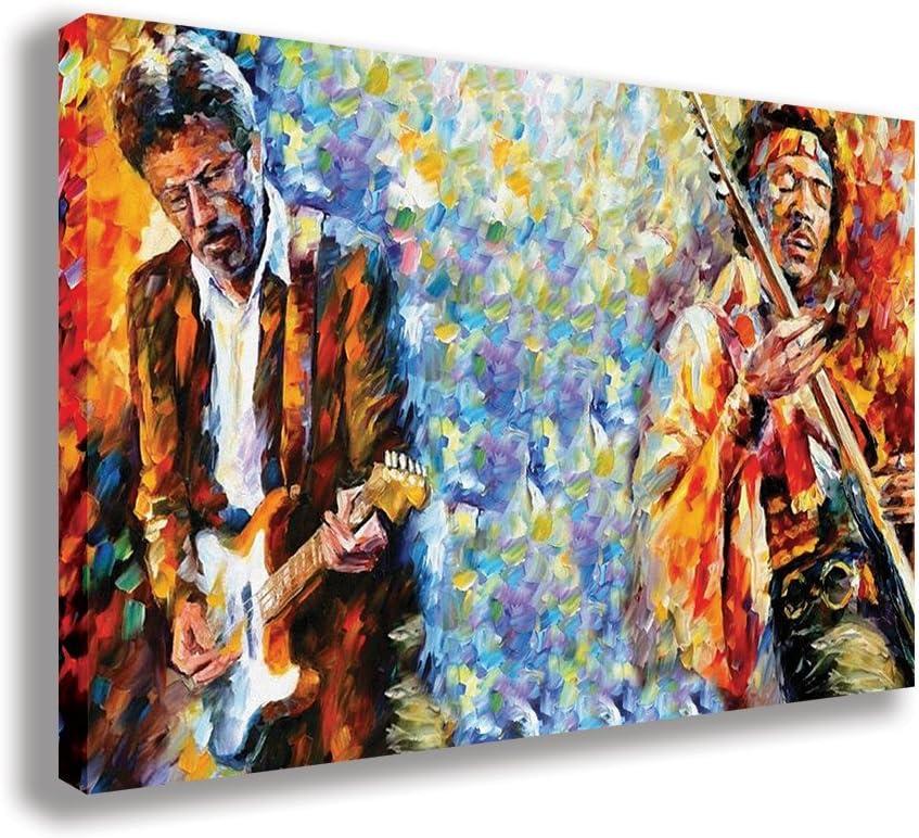 Jimi Hendrix Smoking Canvas Wall Art Print Various Sizes