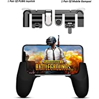 """teczon New Mobile Game Controller and joystick,Gamepad Survival Game Triggers for Knives Out/PUBG/Fortnite/Rules of Survial, Ergonomic Design for 4.5-6.5inch Android IOS Phones Game grip(1 Pair of Joystick & 1 Pair of Gamepad Grip) """""""