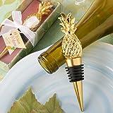Pineapple Themed Gold Wine Bottle Stopper, 1