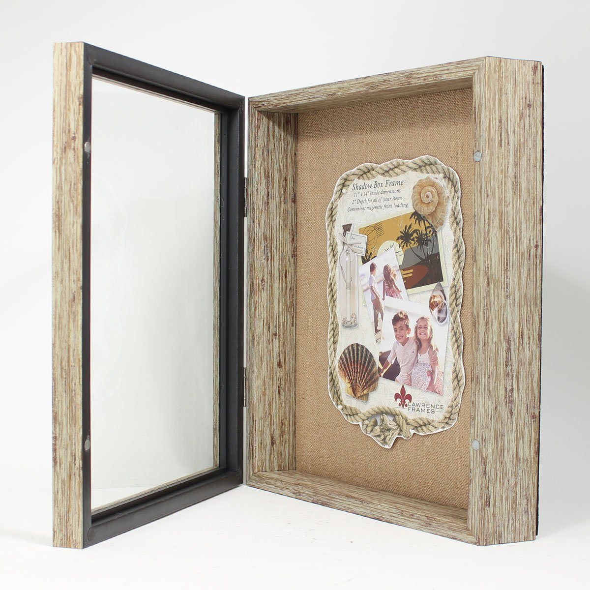 Amazon.com - Lawrence Frames Weathered Front Hinged Shadow Box Frame ...