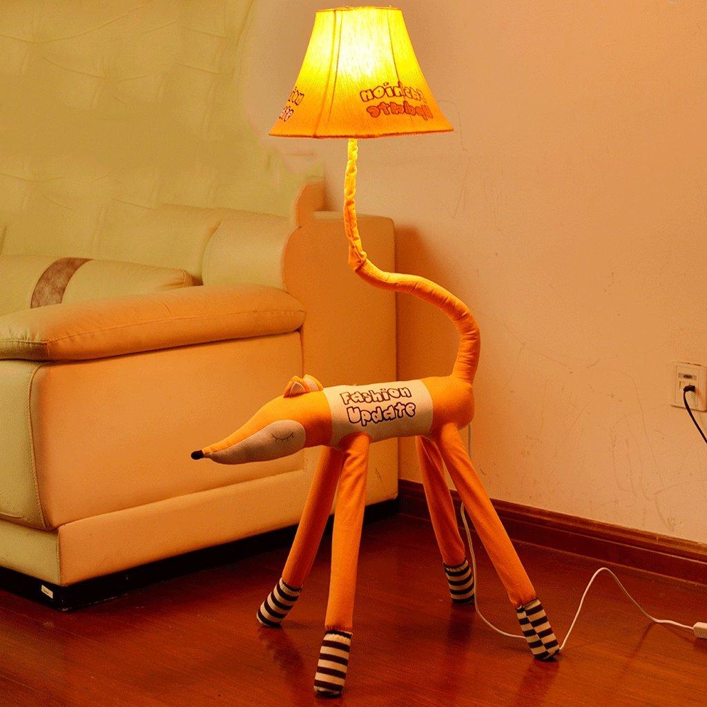 Edge To Cartoon Cute Animal Floor Lamp Creative Children Bedroom Bedroom Warm Bedside Lamp Living Room Simple Vertical Desk Lamp