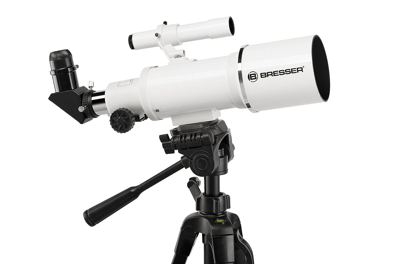Bresser Optics Classic 70//350 Refractor 140x Negro Telescopio Blanco 65 cm, 2,3 kg, Aluminio, Aluminio
