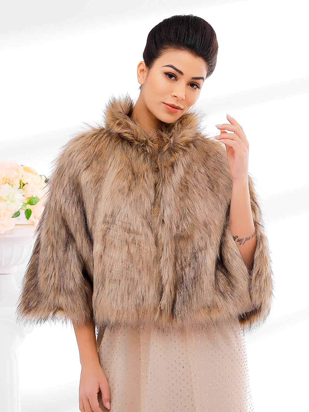 Asooll Women's Faux Fur...