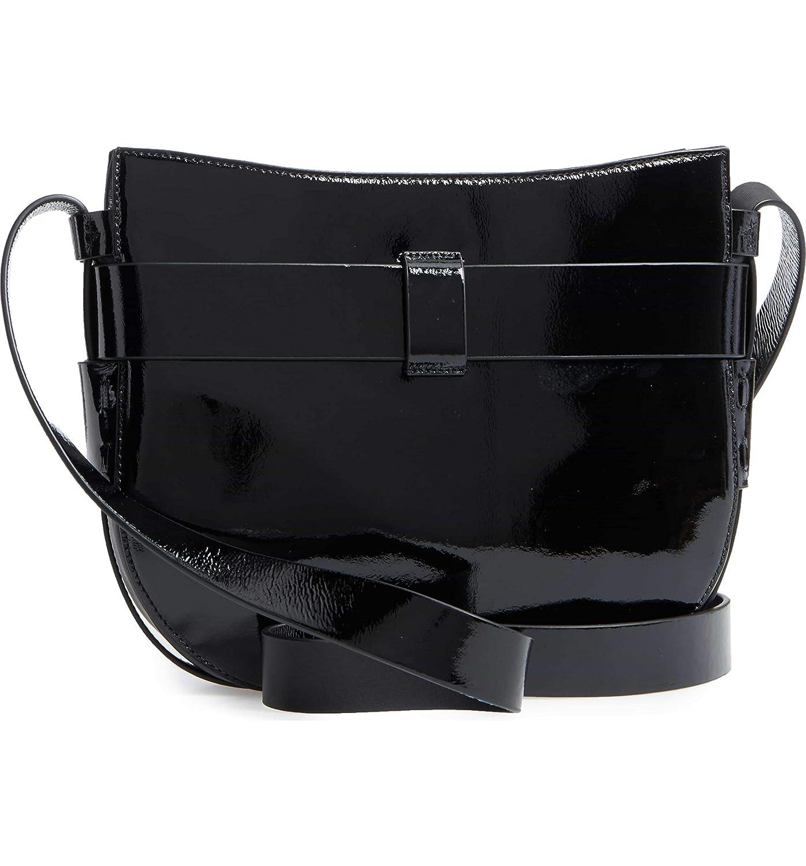 1c3b82072ec Tory Burch Cross-Body Bags - Womens Gemini Link Patent Cross-Body Midnight  Swim (Black)  Handbags  Amazon.com