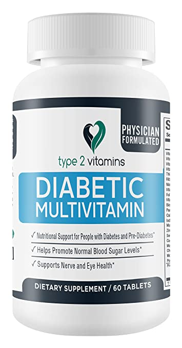Amazon.com: Type 2 Vitamins Diabetic Multivitamin - 60 Tablets ...
