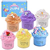 Butter Slime Kit, Non-Sticky And Stress Relief With Scented Super Soft Sludge Slime Toys for Kids Boys Girls Education…