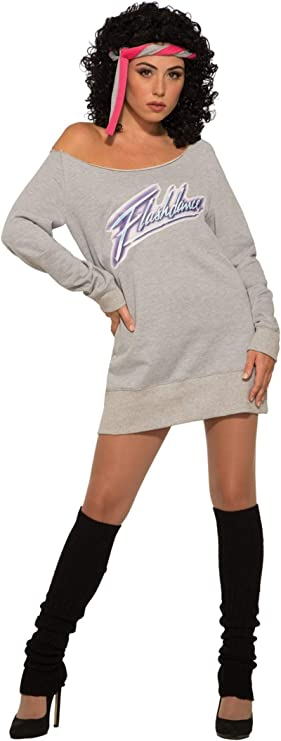 80s Costumes, Outfit Ideas- Girls and Guys Forum Novelties Womens Flashdance Alex Owens Costume $30.56 AT vintagedancer.com