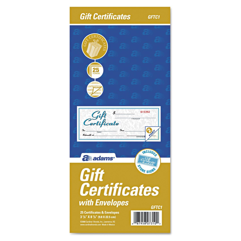 Cardinal Two-Part Carbonless Gift Certificates (ABFGFTC1) by Cardinal (Image #2)