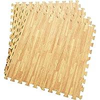 COSTWAY EVA oefen vloermatten met rand (12-delige/ 60 x 60 x 1,2cm/ totaal 4,32㎡), in elkaar grijpende zachte schuim…