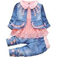 YYA Leisure Spring Trend 3 Pieces Sets T-Shirt&Cowgirl Suit(Pack of 3)