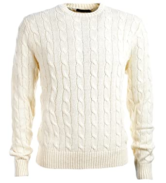 Polo Ralph Lauren Mens Pony Cable Knit Crewneck Sweater At Amazon