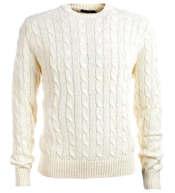 competitive price ee1e9 8e6ca Ralph Lauren - Maglione - Uomo Bianco Chic Cream Medium ...