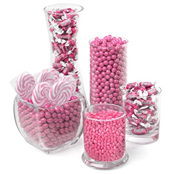 Excellent Amazon Com Pink Candy Kit Party Candy Buffet Table Home Remodeling Inspirations Cosmcuboardxyz
