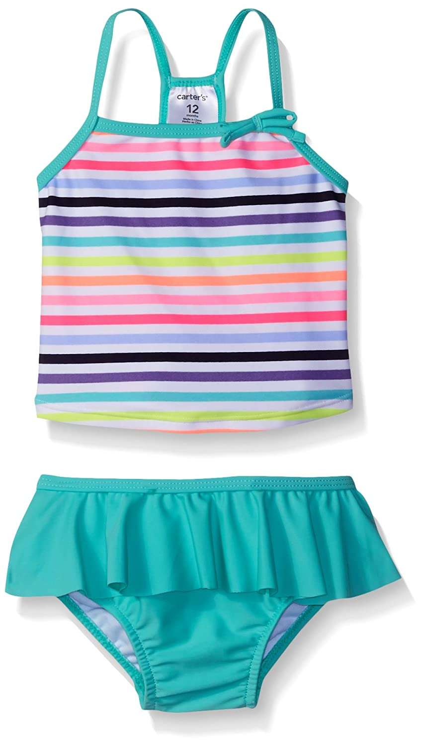 Carter's Baby Girls' Two Piece Striped Tankini with Skirt SC16507